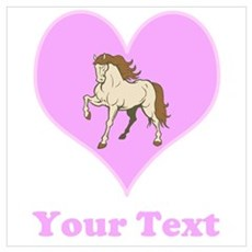 Heart and Horse with Text. Wall Art Poster