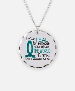 Means World To Me 1 PKD Necklace Circle Charm