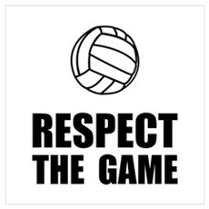 Respect Volleyball Wall Art Framed Print
