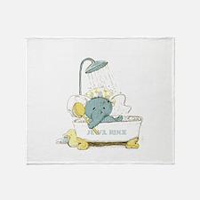 Scrub-a_Dub Hellephant Throw Blanket