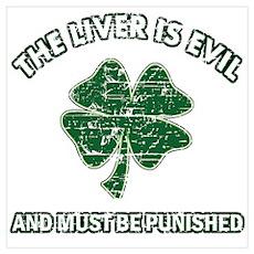 Irish drinking designs Wall Art Poster
