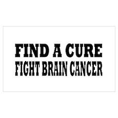 Brain Cancer Wall Art Poster
