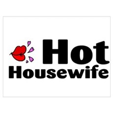 Hot Housewife Wall Art Poster
