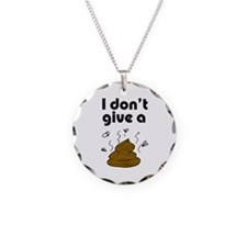 I Don't Give a Poop Necklace