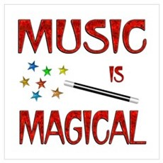 Music is Magical Wall Art Poster