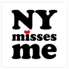 new york misses me Wall Art Framed Print