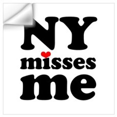 new york misses me Wall Art Wall Decal