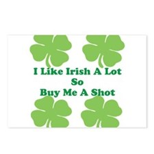 I Like Irish a lot Postcards (Package of 8)