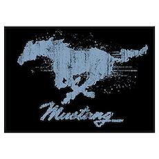 Mustang - Grunge Wall Art Poster