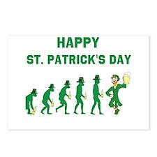St. Patrick's Evolution Postcards (Package of 8)