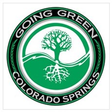 Going Green Colorado Springs Tree Wall Art Poster