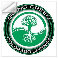 Going Green Colorado Springs Tree Wall Art Wall Decal