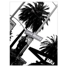 Santa Monica California Wall Art Poster