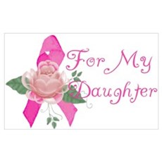 Breast Cancer Support Daughter Wall Art Canvas Art