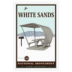 National Parks - White Sands 4 Wall Art Poster