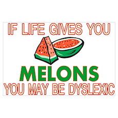 Dyslexic Melons Wall Art Poster