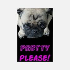 Pretty Please! Pug Rectangle Magnet