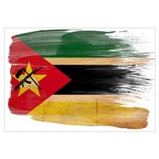 Mozambique Flag Wall Art Framed Print