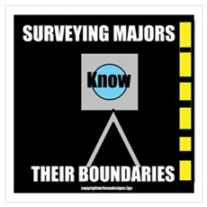 Surveying Majors Know Their B Wall Art Poster