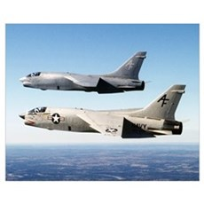 F-8 Crusader Wall Art Poster