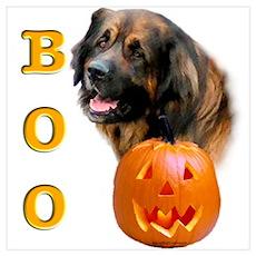 Halloween Leonberger Boo Wall Art Poster
