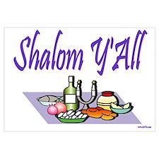 Jewish New Year Shalom Y'all Wall Art