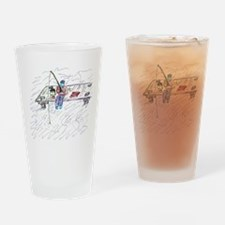 Dock Fishing Drinking Glass