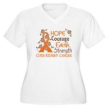 Hope Courage Faith 3 Kidney Cancer T-Shirt