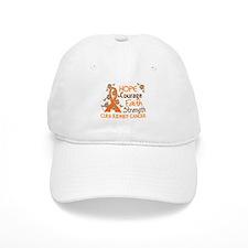 Hope Courage Faith 3 Kidney Cancer Hat