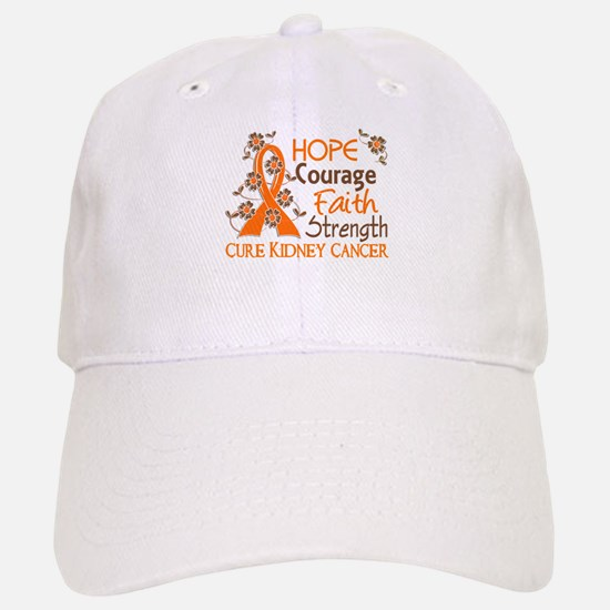 Hope Courage Faith 3 Kidney Cancer Hat
