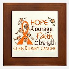 Hope Courage Faith 3 Kidney Cancer Framed Tile