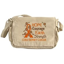 Hope Courage Faith 3 Kidney Cancer Messenger Bag