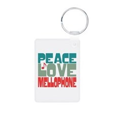 Peace Love Mellophone Keychains