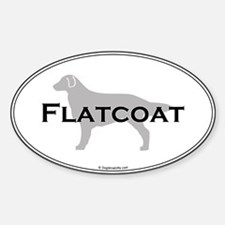 Flat-Coated Retriever Oval Decal