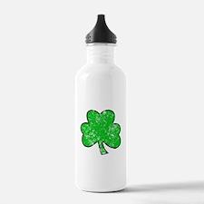 Grungy Clover Water Bottle