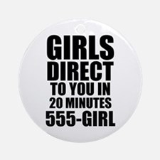 Girls Direct to You Ornament (Round)