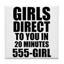 Girls Direct to You Tile Coaster