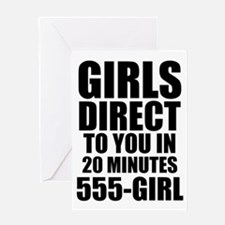 Girls Direct to You Greeting Card
