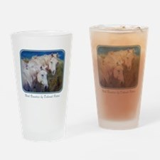 Horse Art White Drinking Glass