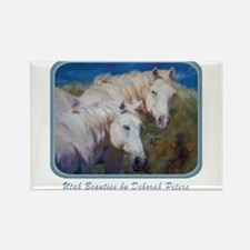 Horse Art White Rectangle Magnet