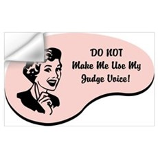 Judge Voice Wall Art Wall Decal