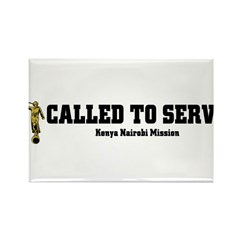 Kenya Nairobi LDS Mission Cal Rectangle Magnet (10