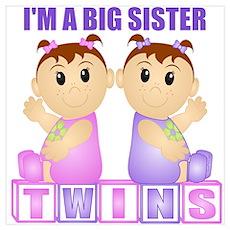 I'm A Big Sister (PGG:blk) Wall Art Poster
