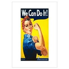 Rosie We Can Do It Wall Art