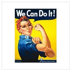 Rosie We Can Do It Wall Art Poster