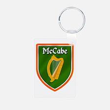 McCabe Family Crest Aluminum Photo Keychain