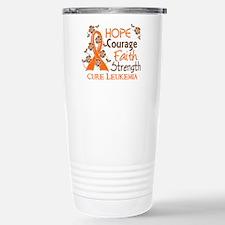 Hope Courage Faith 3 Leukemia Travel Mug