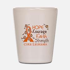 Hope Courage Faith 3 Leukemia Shot Glass