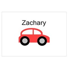 Zachary - Red Car Wall Art Framed Print