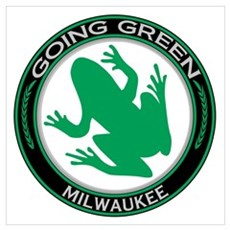 Going Green Milwaukee Frog Wall Art Poster